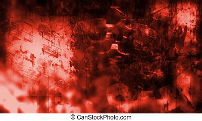 Industrial Grunge in Red