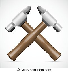 tools in crossed formation - illustration of tools in...