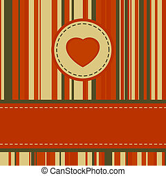 Lovely stripy card 70s retro template. EPS 8 vector file...