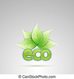 eco with leaves