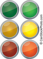 Traffic lights vector isolated on white background