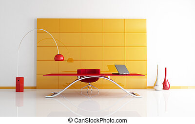 orange and red office space