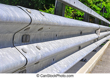 guardrail protection for car and motorcycle accident ensure...