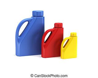 motor oil bottle isolated 3d rende