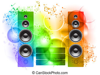 music - Music abstract background with speakers
