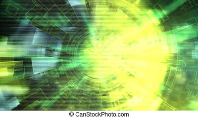 Science Fiction Abstract Loop - Looping Geometric Science...