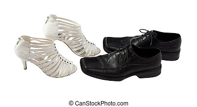 Elegant male and woman shoes