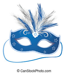 carnival mask - vector illustration of an elegant venetian...
