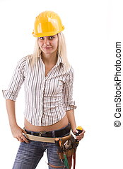 Sexy construction worker - Sexy construction worker with...