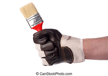 paintbrush - A hand with a paintbrush.