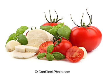 Italian food 4 - Italian food ingredients on a white...