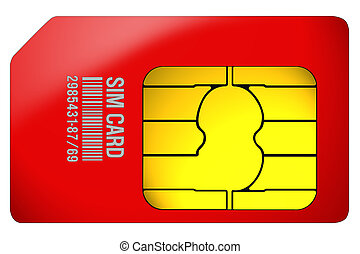 SIm Card red