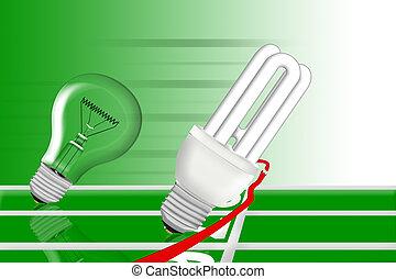 energy saving bulb wins the race