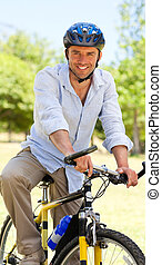 Man with his bike