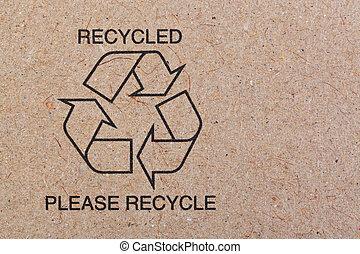 reciclar, reciclado, cartón