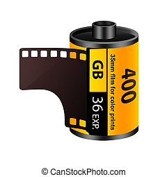 35mm film roll - 3D rendering of a 35mm film roll