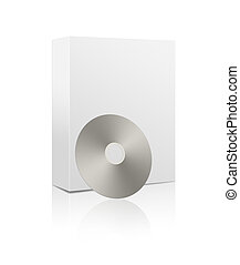 Software box and CD - 3D rendering of a software box and a...