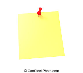 Yellow sticky note - 3D rendering of a yellow sticky note...