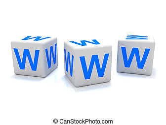 World Wide Web icon - 3D rendering of a world wide web icon