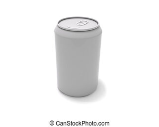 Soda can - 3D rendering of a generic soda can