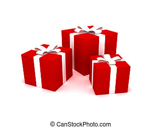 Christmas presents - 3D rendering of Christmas presents
