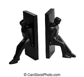 Book ends - Novelty book ends isolated with clipping path...
