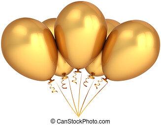 Partido, balões, Total, dourado