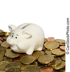 Piggy Bank Savings front view isolated on white background