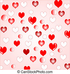 Love hearts background border design for creating...
