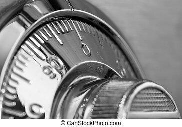 safe lock closeup