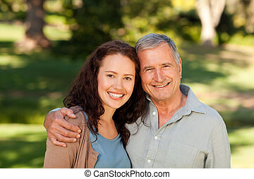 Woman with her father-in-law in the