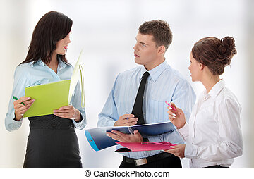 Conversation of business group