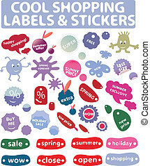 cool shopping - labels