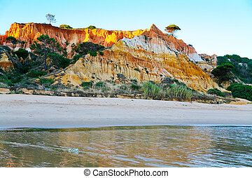 many-colored mountain - many-colored sand mountain in...