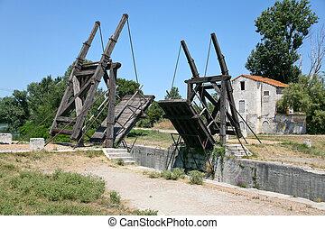 puente levadizo, país, lado