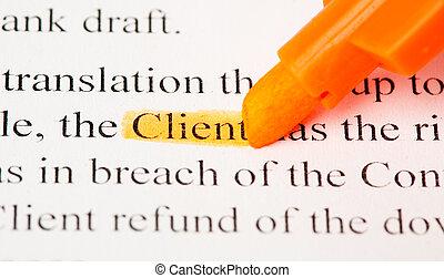 client def