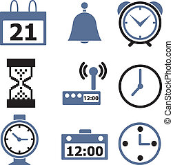 9 time signs - 9 time professional signs, vector