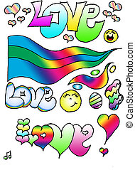 Love Clip Art - Love illustrated with other fun designes in...