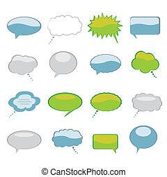Speech and Thought Bubbles - Various speech and thought...
