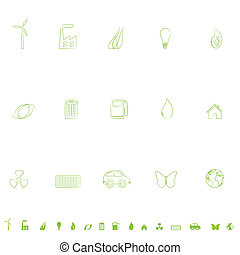 Environmental Icon Set - General environmental symbols icon...