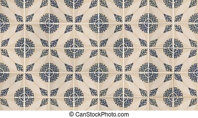 Seamless tile pattern of ancient ceramic tiles.