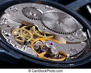 desmontado, reloj de pulsera