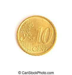 centavos,  10,  Euro