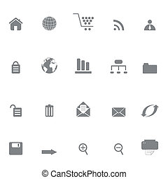Internet or web site icons - Internet and web site icon set...