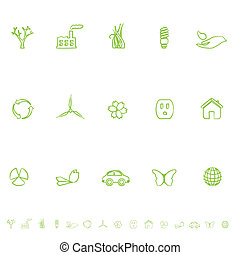 General Eco Symbols Icon Set