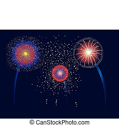 Fireworks Display - Firework display for Fourth of July or...