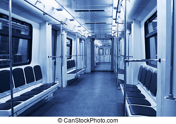subway train - Interior of a modern subway train