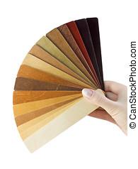 samples of wood coatings