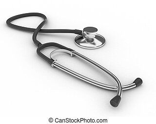 Stethoscope - 3D Illustration of a Doctor's Stethoscope