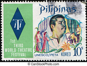 Third World Theatre Festival - PHILIPPINES - CIRCA 1973: A...